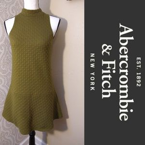 A & F Army Green Quilted Mini Dress Size XS